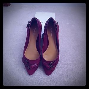 Nine West sueded flats - deep red